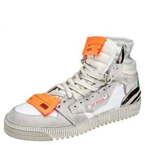 Off-White Multicolor Suede And Canvas Off-Court 3.0 High Top Sneakers Size 45
