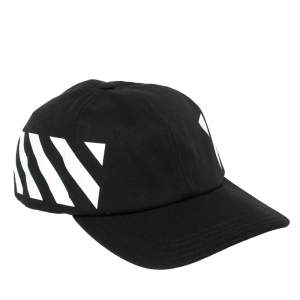 Off-White Black Fabric Diag Baseball Cap
