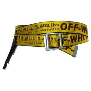 حزام أوف وايت أتيسان أنداستريال نايلون أسود/ أصفر 200 سم