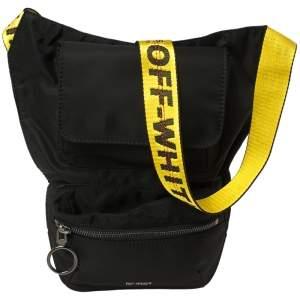 Off-White Black Nylon Industrial Crossbody Bag