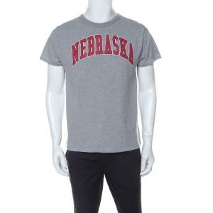 Off White Grey Jersey Nebraska T-Shirt XS