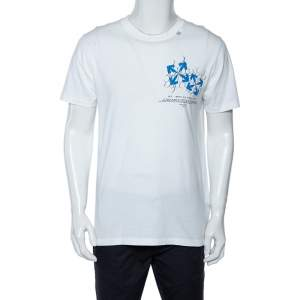 Off White Cotton Fence Oversized Crew Neck T-Shirt M