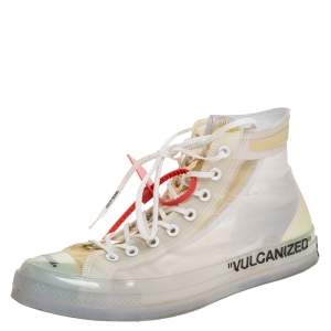 Off-White x Chuck Taylor All Star Translucent Mesh And Rubber Vulcanized Hi Top Sneaker Size 45