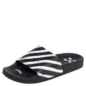 Off-White Off White/Black PVC Slide Sandals Size 41