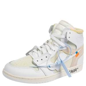 Nike x Off-White Jordan 1 Retro High Top Sneakers Size 43