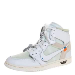 حذاء رياضي نايكي × أوف وايت جوردان 1 ريترو برقبة عالية مقاس 44