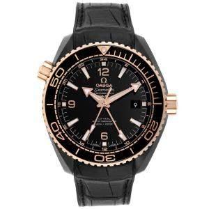 Omega Black 18K Rose Gold And Ceramic Planet Ocean GMT 215.63.46.22.01.001 Men's Wristwatch 45.5 MM