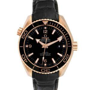 Omega Black 18k Rose Gold Seamaster Planet Ocean 232.63.46.21.01.001 Men's Wristwatch 46 MM