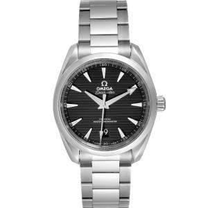 Omega Black Stainless Steel Seamaster Aqua Terra 220.10.38.20.01.001 Men's Wristwatch 38 MM