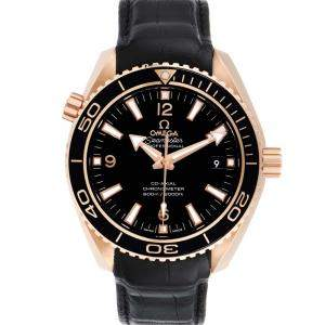 Omega Black 18K Rose Gold Seamaster Planet Ocean 232.63.42.21.01.001 Men's Wristwatch 42 MM