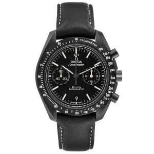 Omega Black Ceramic Speedmaster Pitch Dark Side of the Moon 311.92.44.51.01.004 Men's Wristwatch 44 MM