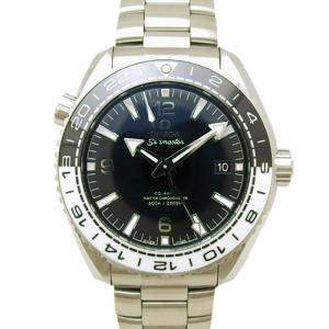 Omega Black Stainless Steel Seamaster Planet Ocean Men's Wristwatch 43.5MM