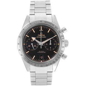 Omega Black Stainless Steel Speedmaster 57 Broad Arrow 331.10.42.51.01.002 Men's Wristwatch 41.5MM