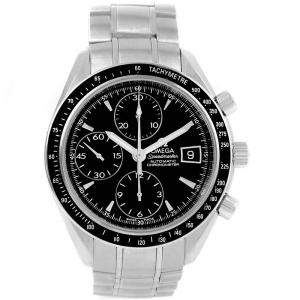 Omega Black Stainless Steel Speedmaster Chronograph 3210.50.00 Men's Wristwatch 40MM