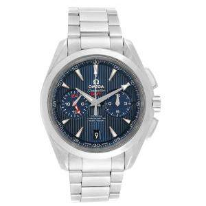Omega Blue Stainless Steel Seamaster Aqua Terra GMT Chronograph 231.10.43.52.03.001 Men's Wristwatch 43 MM
