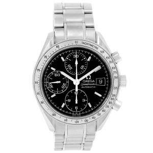 Omega Black Stainless Steel Speedmaster Chronograph 3513.50.00 Men's Wristwatch 39 MM