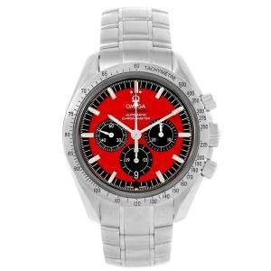 Omega Red Stainless Steel Speedmaster Schumacher Legend 3506.61.00 Men's Wristwatch 42 MM