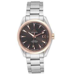 Omega Chocolate Brown and Stainless Steel Seamaster Aqua Terra 231.20.42.21.06.002 Men's Wristwatch 41.5MM