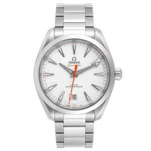 Omega Silver and Stainless Steel Seamaster Aqua Terra 220.10.41.21.02.001 Men's Wristwatch 41MM