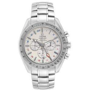 Omega Off White Stainless Steel Speedmaster Broad Arrow 3581.30.00 Men's Wristwatch 44.25MM