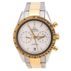 Omega Silver White 18K Yellow Gold Stainless Steel Speedmaster '57 Men's Wristwatch 41.50 mm