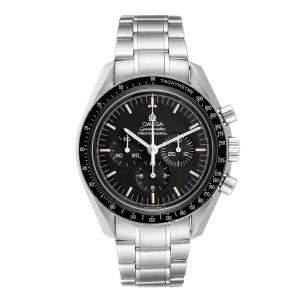 Omega Black Stainless Steel Speedmaster MoonWatch Caliber 861 145.022 Men's Wristwatch 42 MM