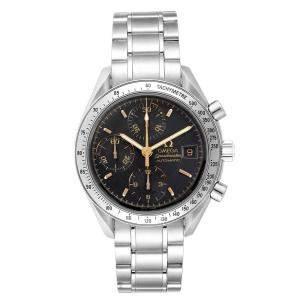 Omega Black Stainless Steel Speedmaster Date 3513.54.00 Men's Wristwatch 39 MM