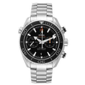 Omega Black Stainless Steel Seamaster Planet Ocean 600M 232.30.46.51.01.001 Men's Wristwatch 45 MM