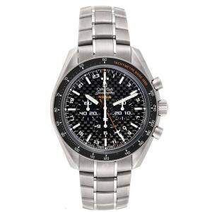 Omega Black Titanium Speedmaster HB-SIA GMT 321.90.44.52.01.001 Men's Wristwatch 44 MM