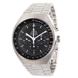 ساعة يد رجالية أوميغا سبيدماستر مارك II 145.0014 ستانلس ستيل سوداء 41 مم
