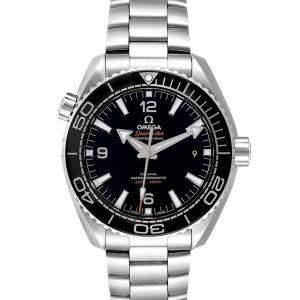 Omega Black Stainless Steel Seamaster Planet Ocean 215.30.44.21.01.001 Men's Wristwatch 43.5 MM