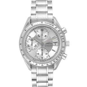 Omega Silver Stainless Steel Speedmaster Date Automatic 3513.30.00 Men's Wristwatch 39 MM