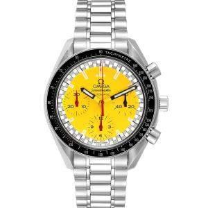 Omega Yellow Stainless Steel Speedmaster Schumacher Automatic 3510.80.00 Men's Wristwatch 39 MM