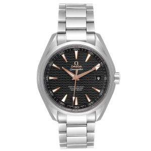 Omega Black Laquered Stainless Steel Seamaster Aqua Terra Anti magnetic 231.10.42.21.01.006 Men's Wristwatch 41.5 MM