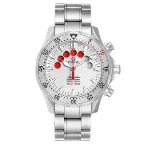 Omega Silver Stainless Steel Seamaster Apnea Jacques Mayol 2595.30.00 Men's Wristwatch 42 MM