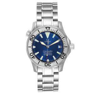 Omega Wave Blue Stainless Steel Seamaster 2553.80.00 Men's Wristwatch 36 MM