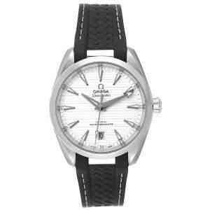 Omega Silver Stainless Steel Seamaster Aqua Terra 220.12.38.20.02.001 Men's Wristwatch 38 MM