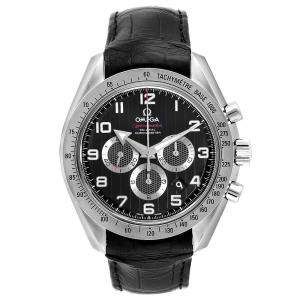 Omega Black Stainless Steel Speedmaster Broad Arrow 321.13.44.50.01.001 Men's Wristwatch 44 MM