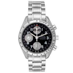 Omega Speedmaster Tripple Calendar Black Arabic Dial Watch 3523.51.00 Men's Wristwatch 40 MM
