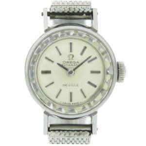 Omega Silver Stainless Steel De Ville Automatic Vintage Women's Watch 17 MM