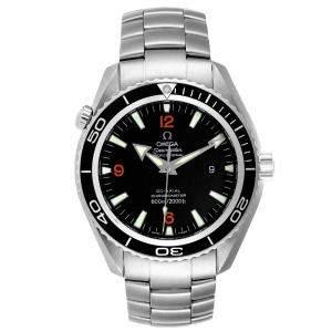 Omega Black Stainless Steel Seamaster Planet Ocean 2200.51.00 Men's Wristwatch 45.5 MM
