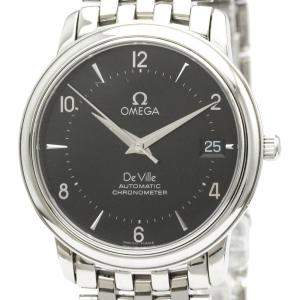 Omega Black Stainless Steel De Ville Prestige Chronometer Automatic 4500.50 Men's Wristwatch 34 MM
