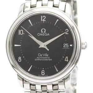 """ساعة يد رجالية أوميغا """"دي فيل بريستيغ كرونوميتر أوتوماتيك 4500.50"""" ستانلس ستيل سوداء 34 مم"""