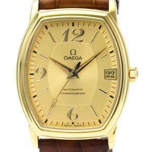 """ساعة يد رجالية أوميغا """"دي فيل بريستيغ تونيو 4103.11"""" ذهب أصفر عيار 18 شامبانيا 31 مم"""
