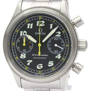 Omega Black Stainless Steel Dynamic Chronograph Automatic 5240.50 Men's Wristwatch 38 MM