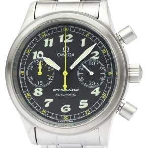 """ساعة يد رجالية أوميغا """"ديناميك كرونوغراف أوتوماتيك 5240.50"""" ستانلس ستيل سوداء 38 مم"""