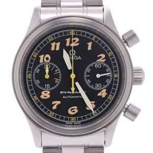 """ساعة يد رجالية أوميغا """"ديناميك أوتوماتيك 5240.50"""" ستانلس ستيل سوداء 36 مم"""
