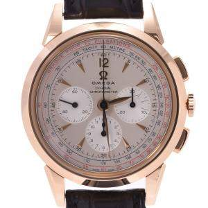 Omega Silver 18K Rose Gold Museum Collection 1949 Limited Edition 516.53.39.50.02.001 Men's Wristwatch 39 MM