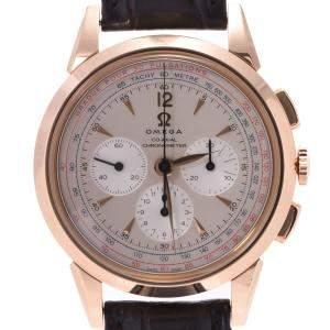 """ساعة يد رجالية أوميغا """"موزيوم كولكشن 1949 إصدار محدود 516.53.39.50.02.001"""" ذهب وردي عيار 18 فضية 39 مم"""
