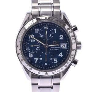 """ساعة يد رجالية أوميغا """"سبيدماستر 3513.82 أوتوماتيك"""" ستانلس ستيل زرقاء 37 مم"""